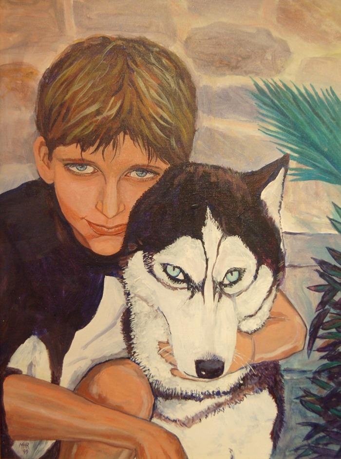 Artist Mair Pattersun's portrait painting